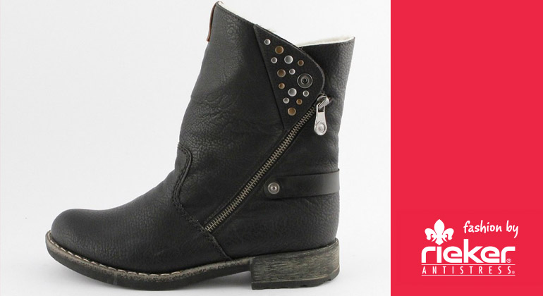 Rieker Damen Winterboot Peggy Schwarz