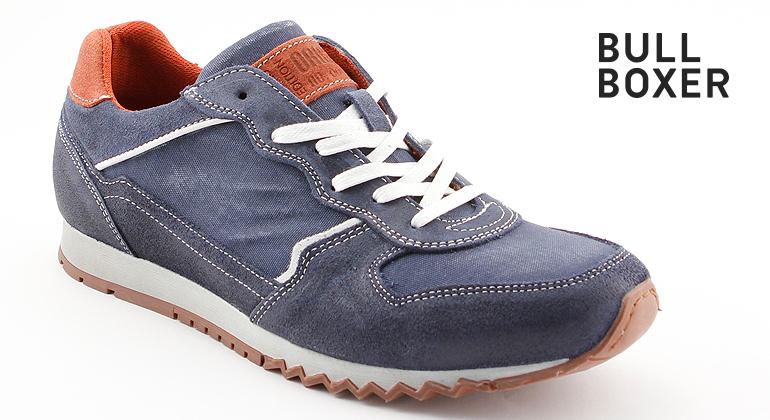 Bullboxer Trend Design Sneaker Running Optik Blau