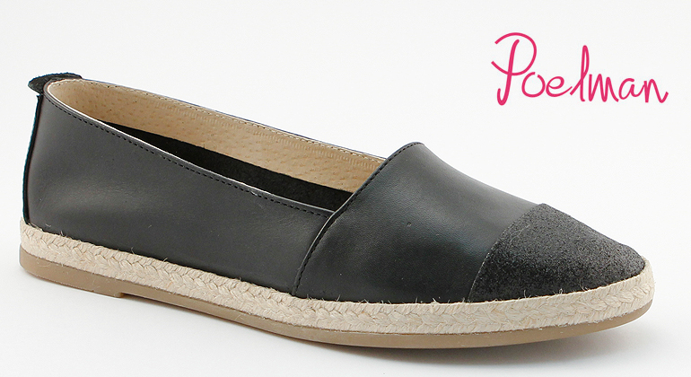 Hot Ice Espadrilles Black Leder